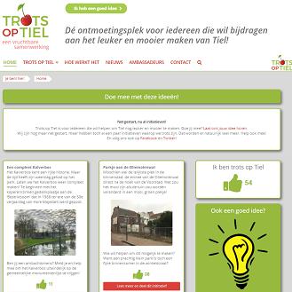 Website voor Trots op Tiel