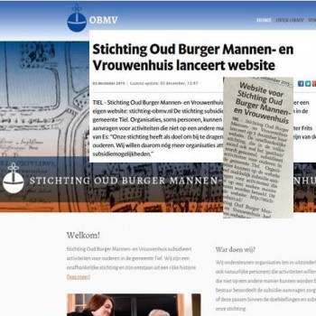 Website Stichting OBMV