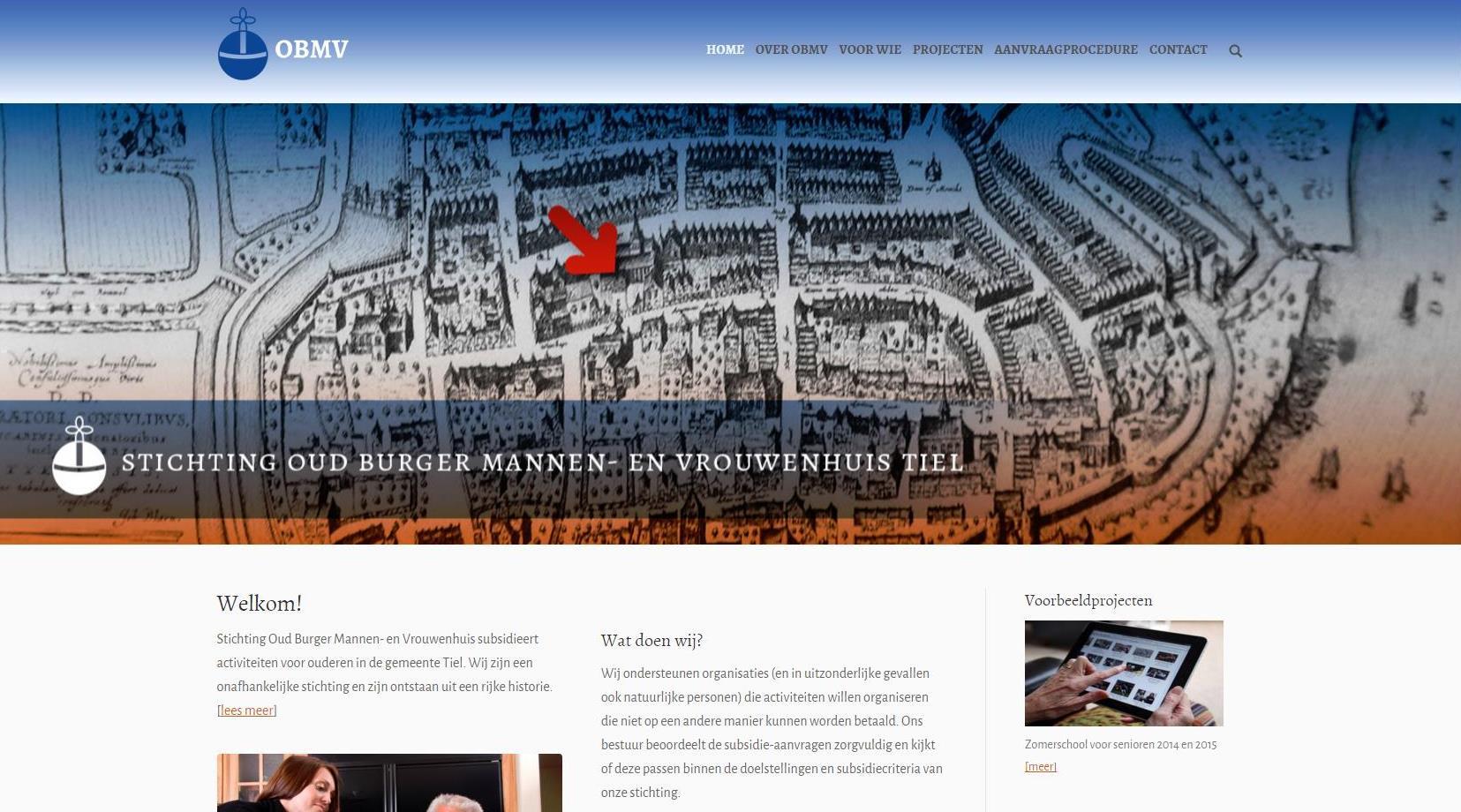Website Stichting OBMV
