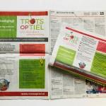 Krantenadvertenties lancering website Trots op Tiel in Zinder op 27 januari 2018